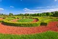 Traditional French Garden. Rundale Palace ,  Latvia Royalty Free Stock Images - 77188429
