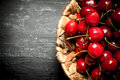 Cherry In The Basket. Stock Image - 77194951