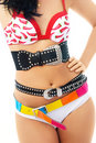 Young Woman Wearing Underwear And Three Belts Royalty Free Stock Photo - 7727585