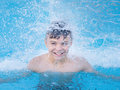 Happy Boy In Pool Royalty Free Stock Photo - 77203055