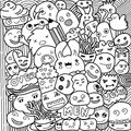 Vector Illustration Of Monsters And Cute Alien Friendly, Cute Hand-drawn Royalty Free Stock Photo - 77250695