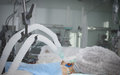 Patient On Mechanical Ventilation In A Coma Stock Images - 77262954