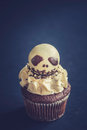 Skull Cup Cake Stock Photography - 77274912