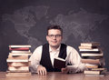 Geography Teacher At Desk Stock Images - 77294064