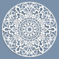 Lace 3D Mandala, Round Symmetrical Openwork Pattern, Lacy Doily, Decorative  Snowflake, Arabic Ornament, Indian Ornament, Embossed Royalty Free Stock Photo - 77294325