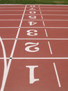 Vertical Numbers Of Athletics Track. Royalty Free Stock Images - 7736709