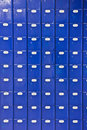 Wall Of Blue Post Office Boxes Stock Photography - 7737032