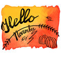 Autumn Watercolor Banner With Hand Lettering Stock Photos - 77307743