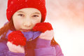 Girl In The Winter. Teen Outdoors Stock Image - 77318931