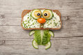 Cat Made Of Bread And Vegetables Stock Photography - 77333132