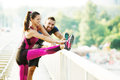 Exercising Outdoors Royalty Free Stock Images - 77348559