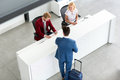 Male Passenger On Reception Royalty Free Stock Photography - 77358147