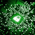 Lock On Computer Chip Royalty Free Stock Photos - 77374238