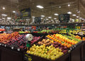 Fresh Fruits And Vegetables Sale At Grocery Store Royalty Free Stock Images - 77375179