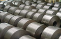 Cold Rolled Steel Coil At Storage Area In Steel Industry Stock Photos - 77377833