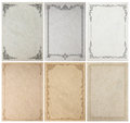 Old Paper Background Texture With Vintage Frame Border Royalty Free Stock Image - 77378636