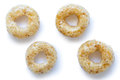Collection Of Four Honey Cheerios Isolated On White. Stock Image - 77382231