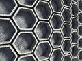 Abstract Architecture Background. Concrete Hexagon Wall Royalty Free Stock Photos - 77384298