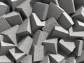 Abstract Geometric Concrete Cubes Blocks Background Stock Image - 77384381
