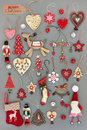 Old Fashioned Christmas Decorations Royalty Free Stock Image - 77405056