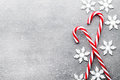 Candy Cane. Christmas Decors With Gray Background. Stock Images - 77420794