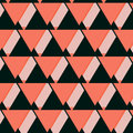 Vector Geometric Pink Coral Background. Mosaic. Abstract Vector Illustration. Rhomb Pattern Triangle Texture Royalty Free Stock Photo - 77433695