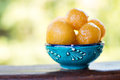 Sweet Fried Dough Balls With Honey Royalty Free Stock Photos - 77445098
