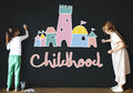 Childhood Children Palace Castle Graphic Concept Stock Photography - 77458522