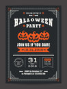 Halloween Night Party With Scary Pumpkins Background For Card Poster Flyer Stock Photo - 77462540
