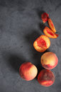Peaches On Gray Royalty Free Stock Images - 77466579