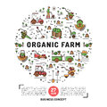 Agriculture And Organic Farm Fresh Design Card Template Stock Photo - 77481330