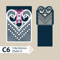 Template Envelope With Carved Openwork Heart Stock Photo - 77486410