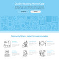 Modern Vector Line Icon Of Senior And Elderly Care. Nursing Home Elements - Disabled, Medicines, Hospital Call Button, Leisure. Li Stock Photography - 77506782