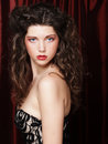 Image Of Beautiful Young Woman With Curly Hair Royalty Free Stock Image - 77509556