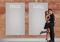 Pros And Cons In A Relationship Royalty Free Stock Image - 77528206