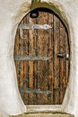 Old Wooden Door On A Building Royalty Free Stock Image - 77550116