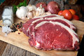 Rare Angus Beef Cut And Ready For Cooking Stock Images - 77566224
