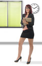 Young Business Woman Smiling, In An Office Royalty Free Stock Photos - 77573408