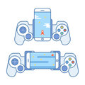 Gamepad For Your Phone. Accessories For Mobile Devices Allows You To Play Video Games. Joystick For Entertainment Royalty Free Stock Image - 77578126