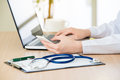 Doctor Using Smart Phone Research Internet, Healthcare And Medic Royalty Free Stock Photos - 77579418