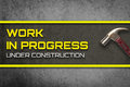 Work In Progress Under Construction Web Page Royalty Free Stock Photography - 77585957
