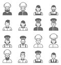 People Occupations Icons. Cook Avatar Profile. Royalty Free Stock Photo - 77610255