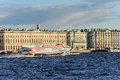 Hydrofoil  Meteor  On The River Neva In St. Petersburg Royalty Free Stock Photography - 77610337