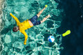 Body Of A Boy In The Pool Stock Photo - 77617880