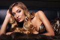 Gorgeous Sensual Woman With Blond Hair In Luxurious Fur Coat Royalty Free Stock Photo - 77622135