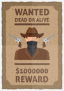 Wanted Dead Or Alive Poster Royalty Free Stock Image - 77625686