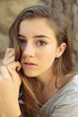 Portrait Of Teenage Girl With Natural Light Royalty Free Stock Photos - 77630168