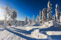 Beautiful Cold Mountain View Of Ski Resort, Sunny Winter Day Wit Royalty Free Stock Photo - 77633595