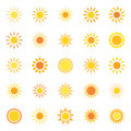 Set Of Icons Sun, Vector Illustration Stock Photography - 77653582