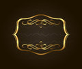 Blank Golden Vintage Frame, Banner, Label, Vector EPS10. Gold Decorative With Place For Text Stock Images - 77661344